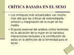 cr tica basada en el sexo