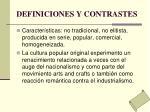 definiciones y contrastes