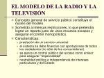el modelo de la radio y la televisi n