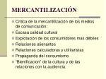 mercantilizaci n