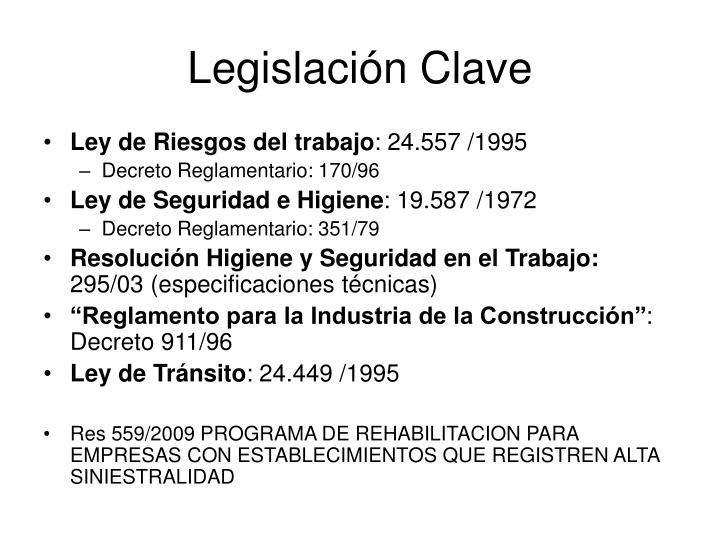 Legislación Clave