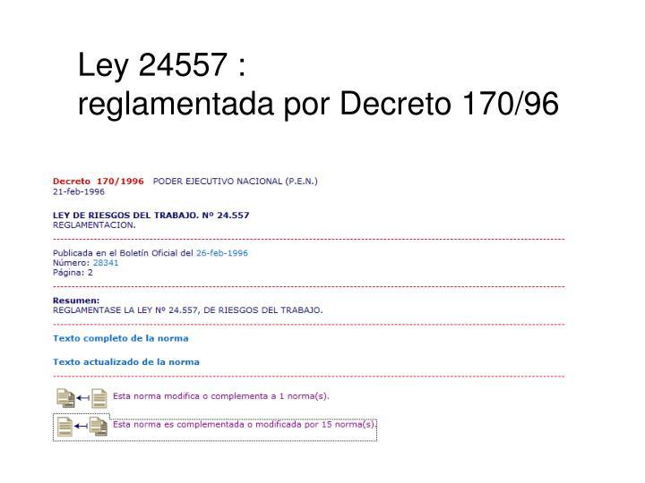 Ley 24557 :