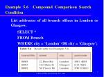 example 5 6 compound comparison search condition