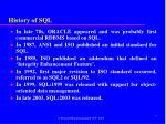 history of sql2