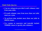 multi table queries
