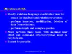 objectives of sql