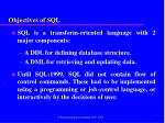 objectives of sql1