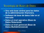 tecnolog a de bases de datos