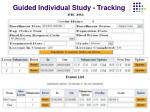 guided individual study tracking