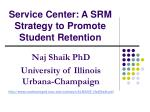 service center a srm strategy to promote student retention