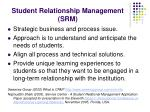 student relationship management srm