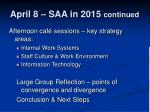 april 8 saa in 2015 continued