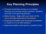 key planning principles