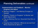 planning deliverables continued2