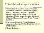 3 variedades de uva para vino tinto
