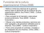 funciones de la cultura organizacional chica 2008