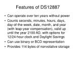 features of ds12887