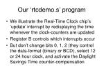 our rtcdemo s program