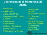 diferencias de la membres a de asme