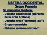 sistema occidental grupo franc s