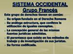 sistema occidental grupo franc s2