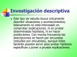 investigaci n descriptiva