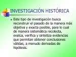 investigaci n hist rica