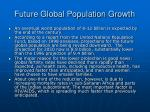 future global population growth