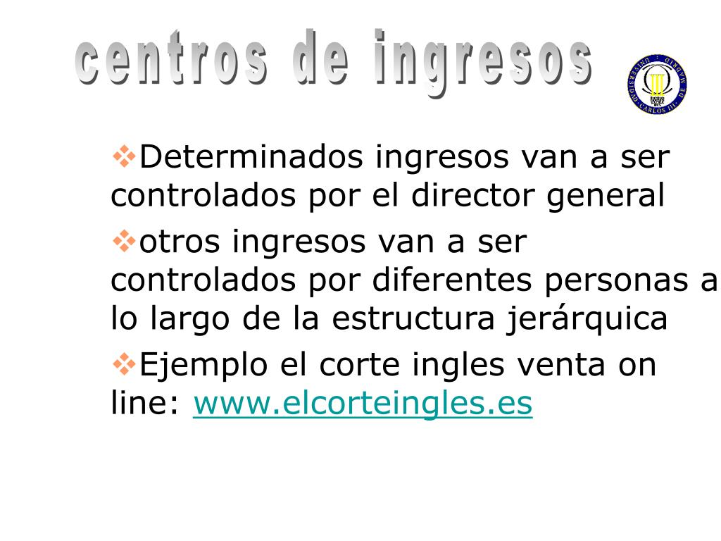 Ppt Tema 1 Control De Gestión Por Centros De