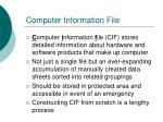 computer information file