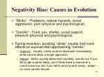 negativity bias causes in evolution