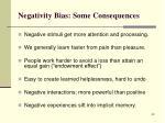 negativity bias some consequences