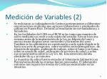 medici n de variables 2