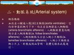arterial system