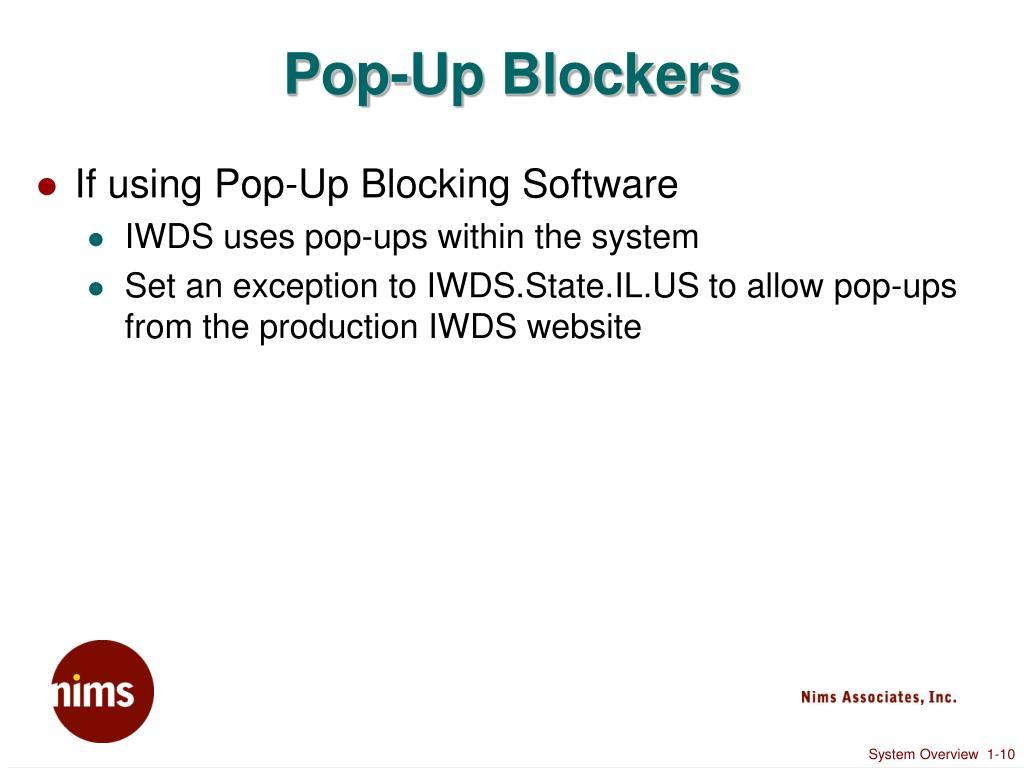 Pop-Up Blockers