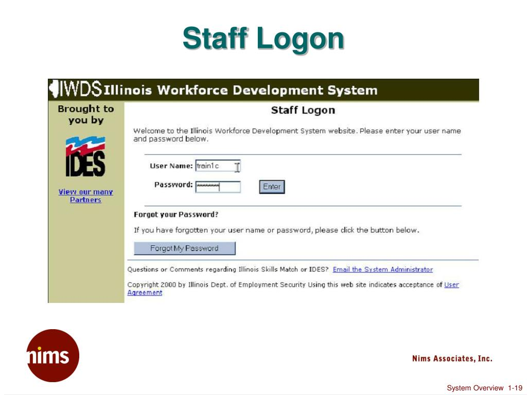 Staff Logon