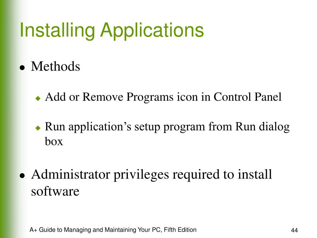 Installing Applications