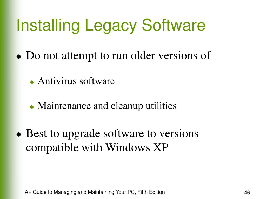 Installing Legacy Software