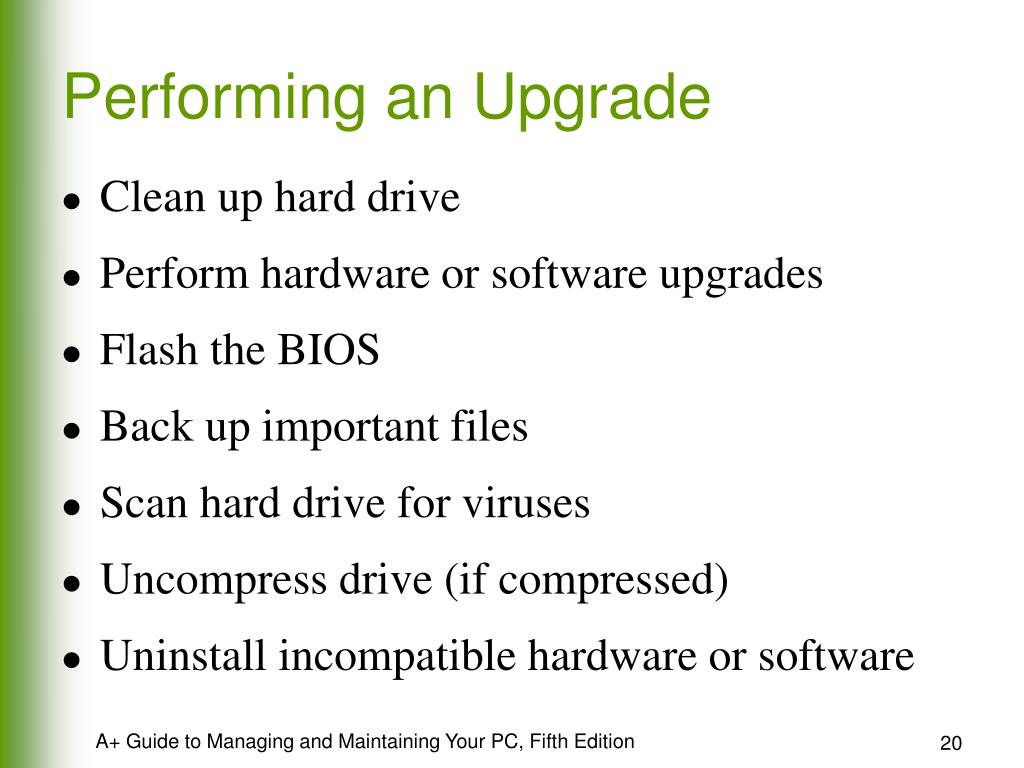 Performing an Upgrade