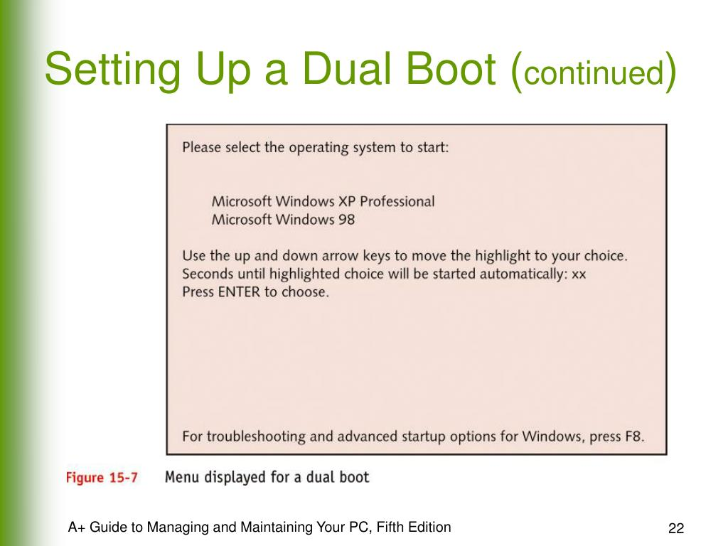 Setting Up a Dual Boot (