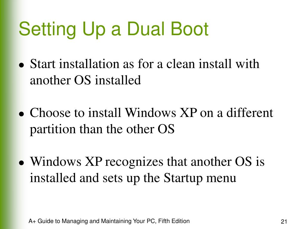 Setting Up a Dual Boot