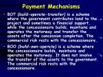 payment mechanisms