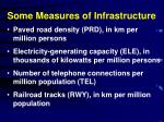some measures of infrastructure