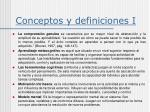 conceptos y definiciones i