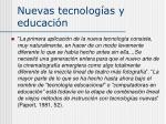 nuevas tecnolog as y educaci n