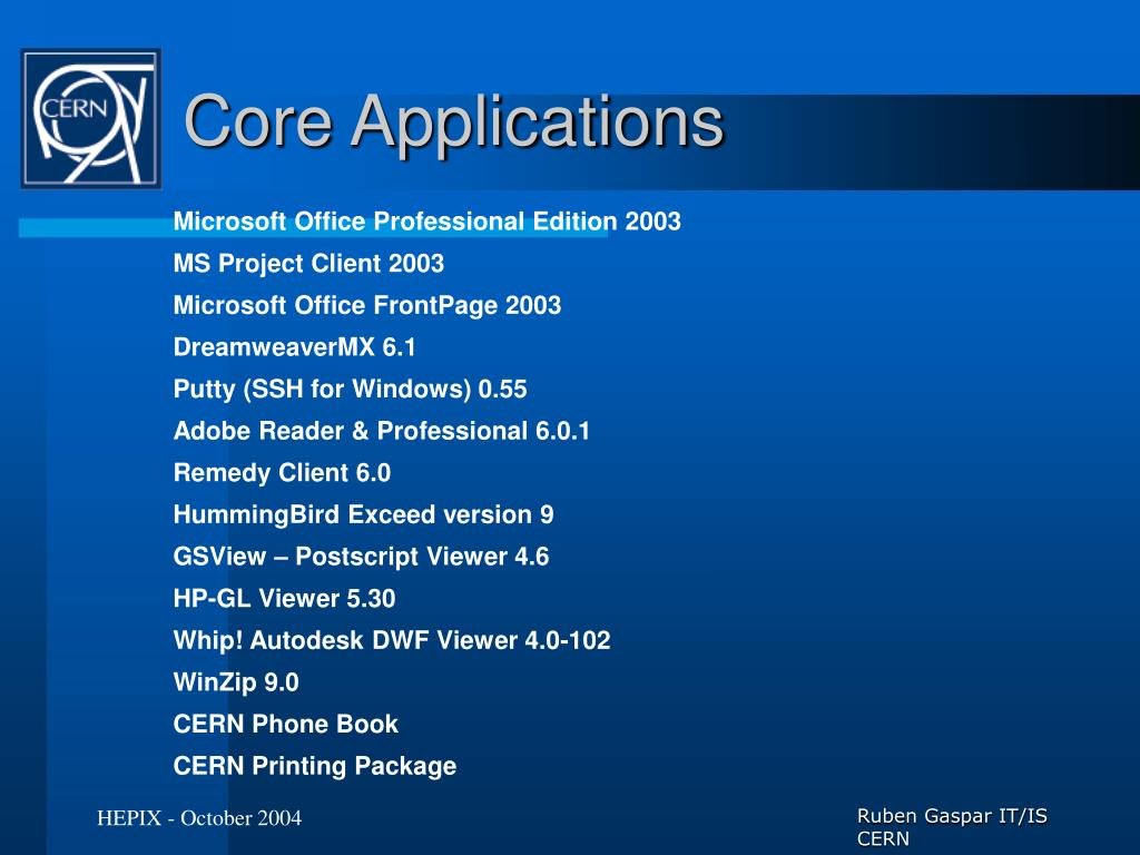 Core Applications