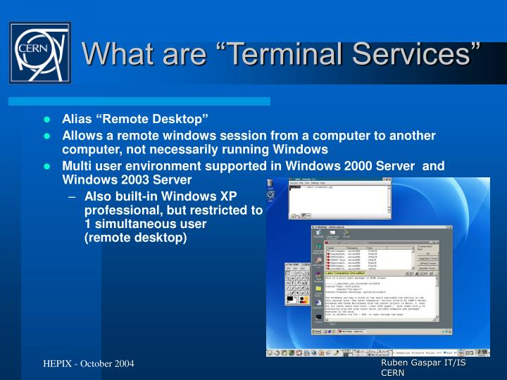 What are terminal services