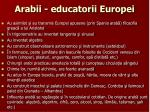 arabii educatorii europei