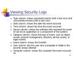 viewing security logs