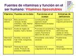 fuentes de vitaminas y funci n en el ser humano vitaminas liposolubles